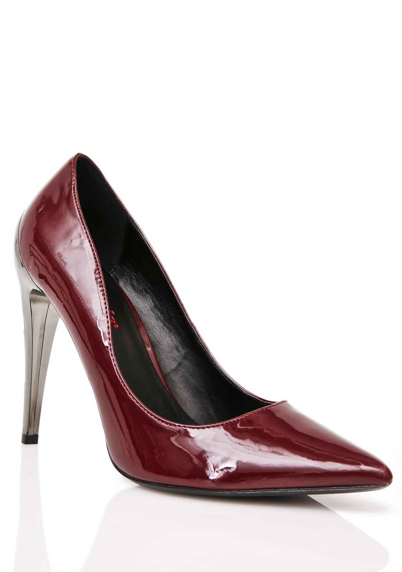 Demonia Crimson Voltage Heels