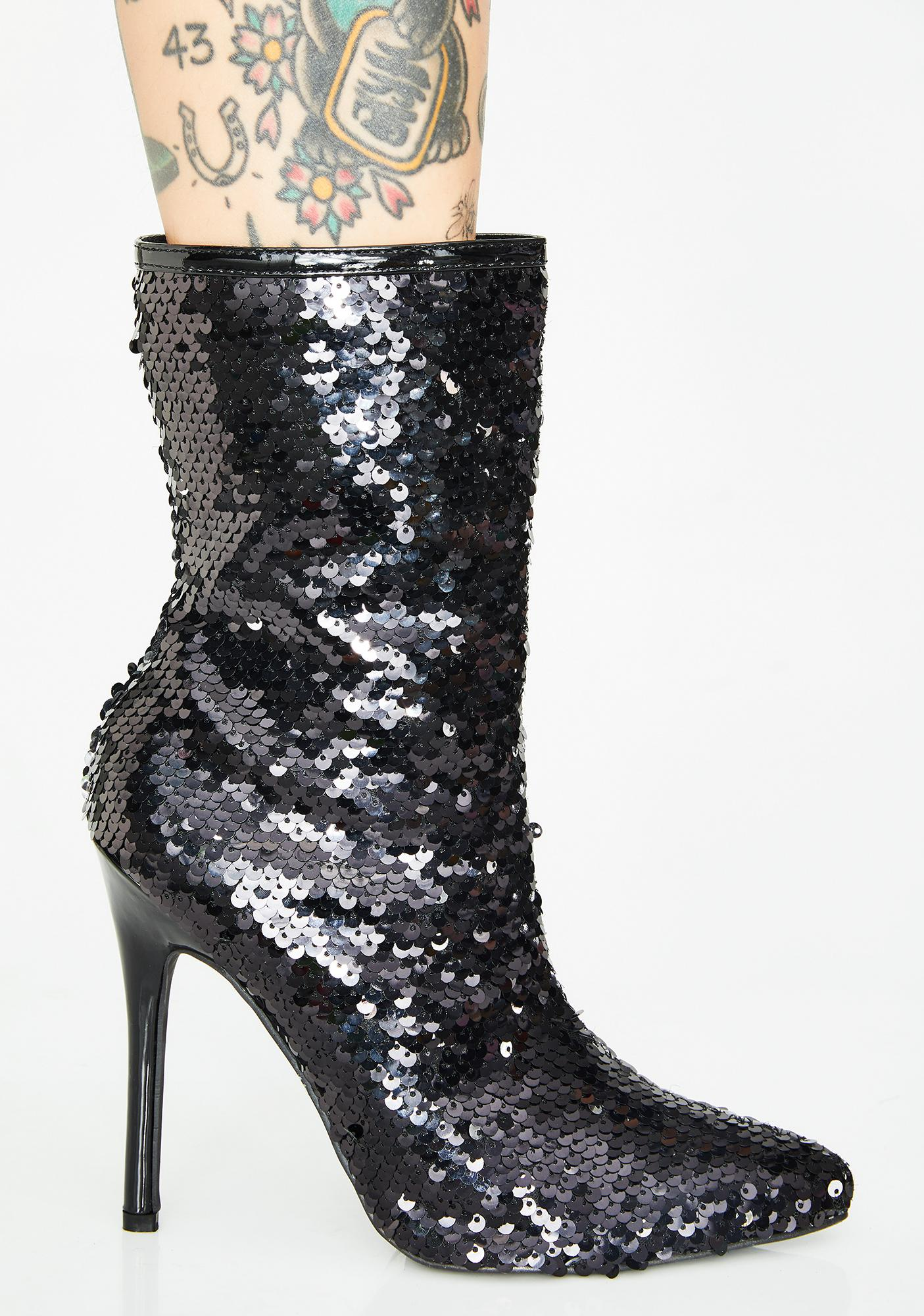Glitterati Sequin Booties