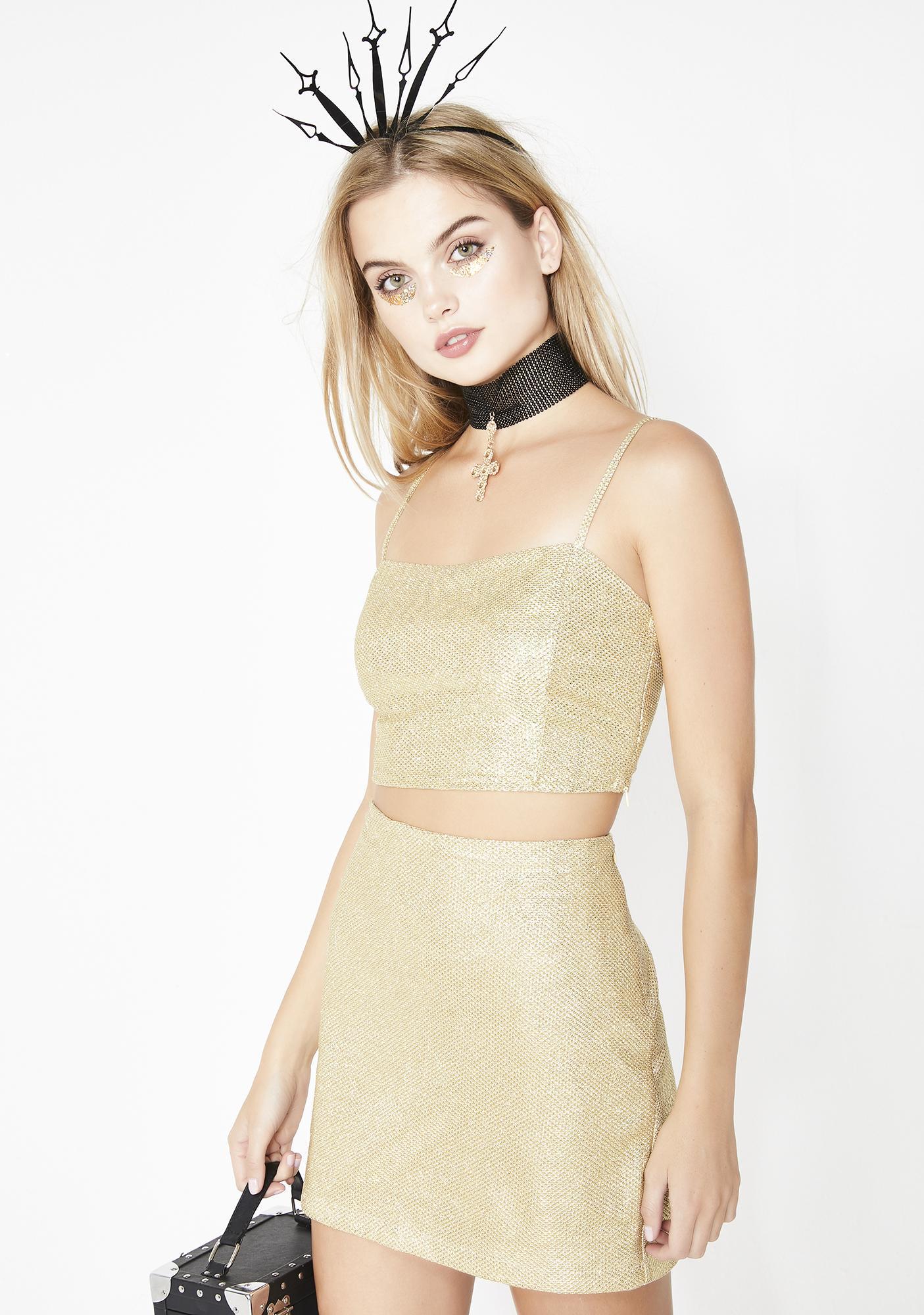 Midas Touch Mini Skirt