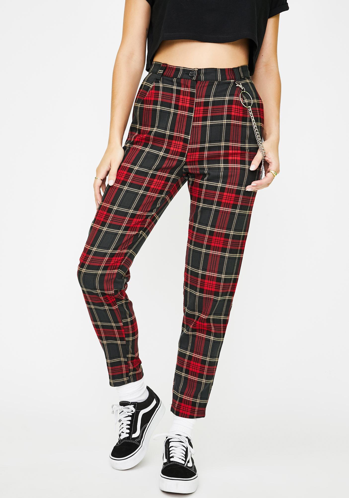 Minga Jessica Plaid Trousers