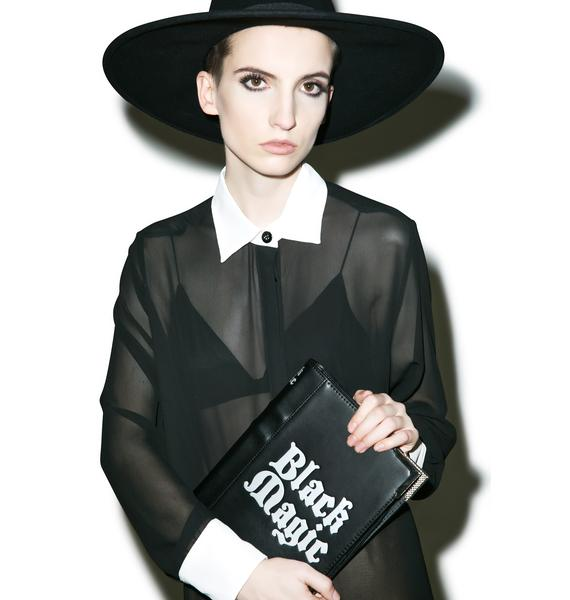 Disturbia Black Magic Clutch Bag