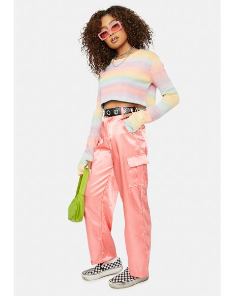 Spice It Up Satin Cargo Pants