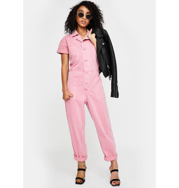 Pistola Pink Grover Denim Jumpsuit