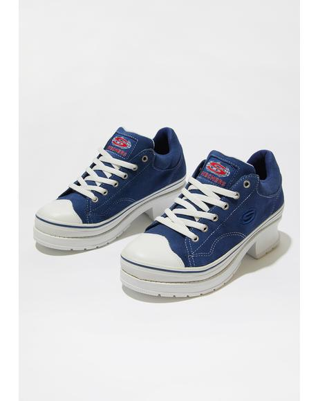 Navy Softy Heartbeats Sneakers