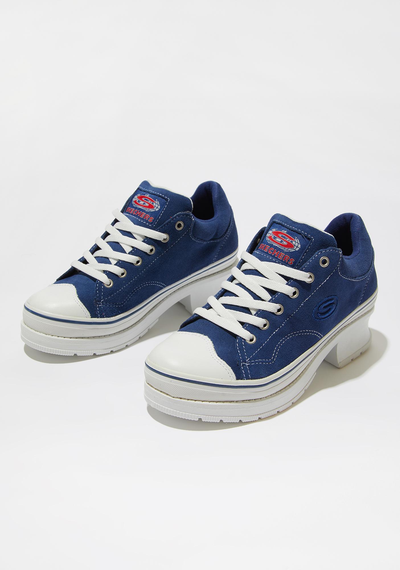 Skechers Navy Softy Heartbeats Sneakers