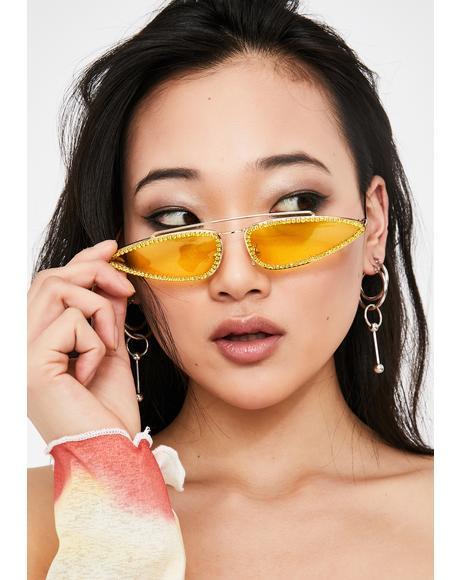 Vicious Vixen Rhinestone Sunglasses
