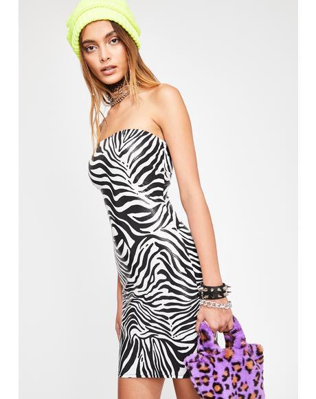 Forever Wild Zebra Dress
