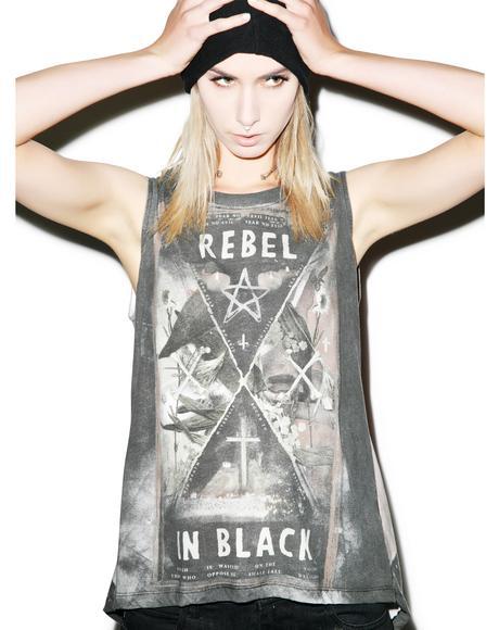 Rebel In Black Top