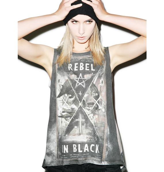 Religion Rebel In Black Top