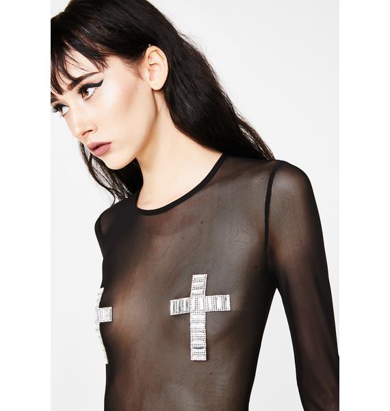 I'll Pray 4 U Mesh Bodysuit