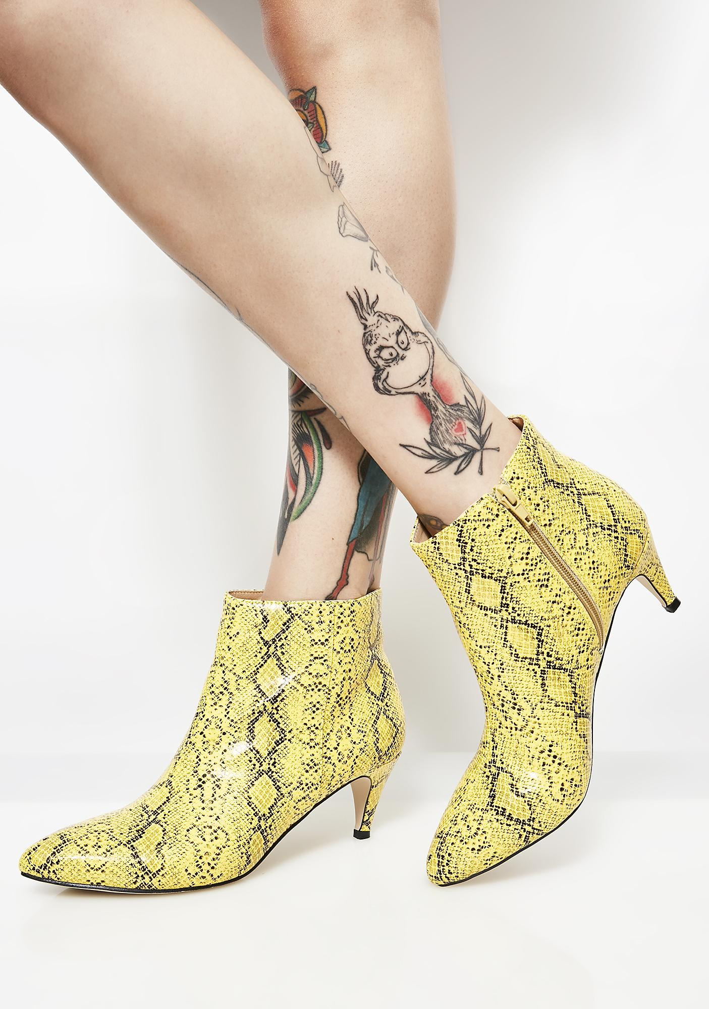 Public Desire Atomic Pointed Toe Low Heel Boots