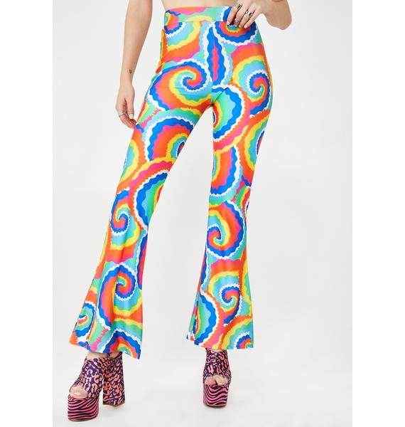 Tara Khorzad Cartoon Tie Dye Flared Pants