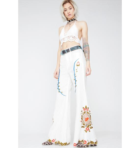 Fillyboo Pure Queen Of Hearts Flared Pants