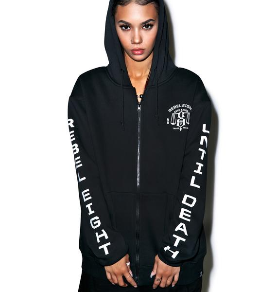Rebel8 Until Death Zip-Up Hoodie