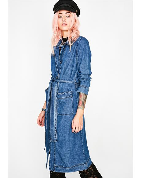 Get A Clue Denim Trench
