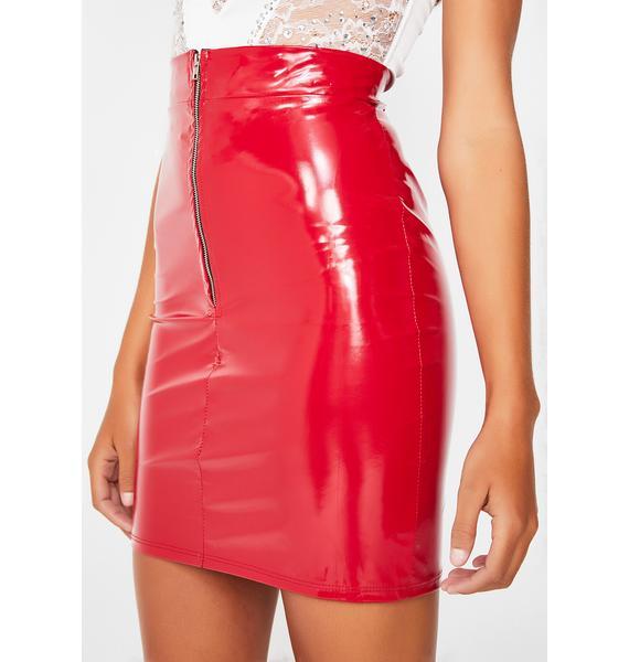 Kiss My Azz Vinyl Skirt