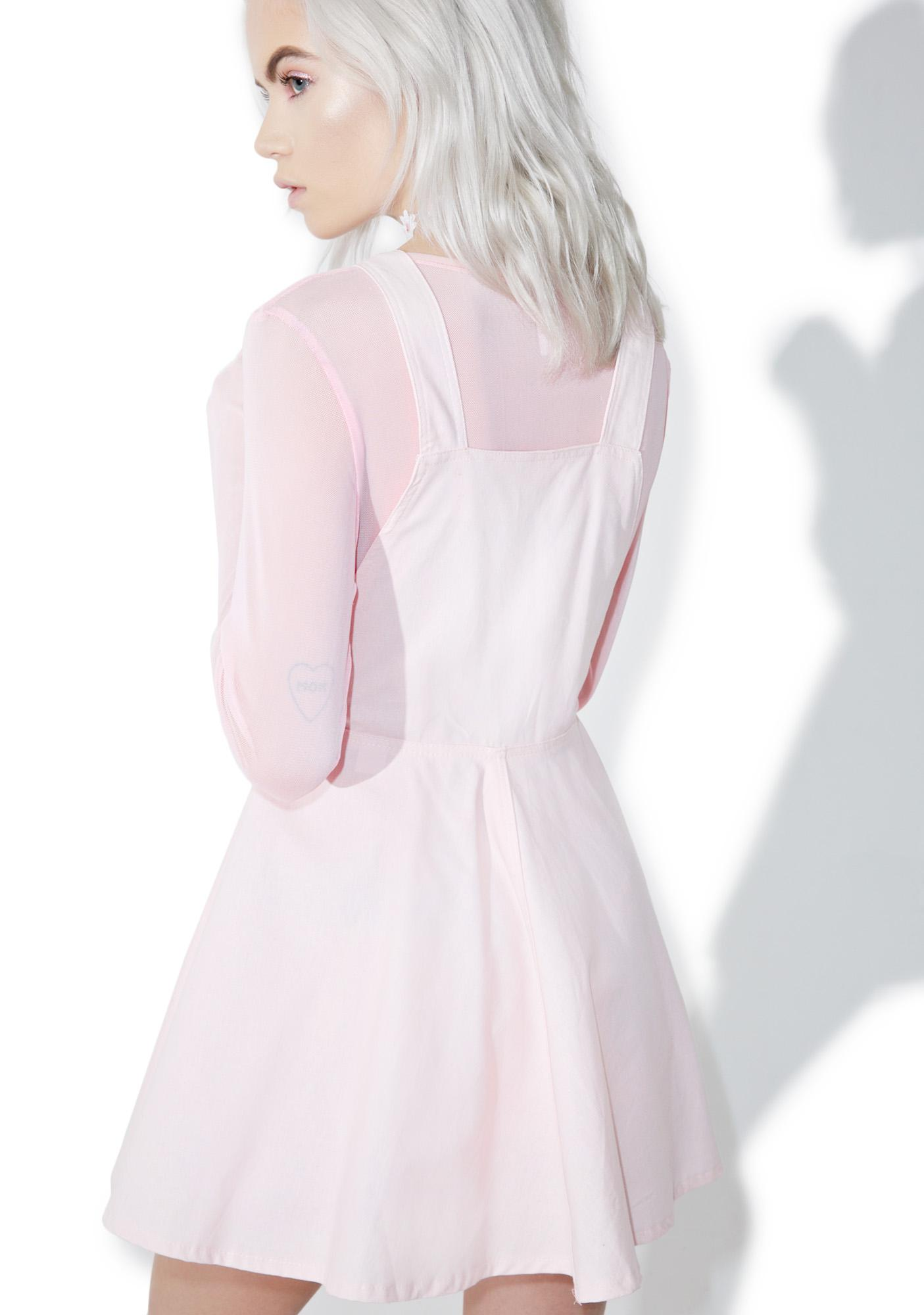 Pastel Petals Overall Dress