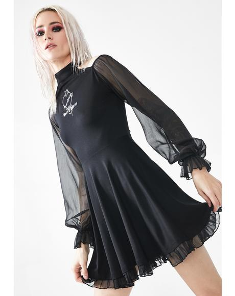 Heart Of Thorns Chiffon Sleeve Dress
