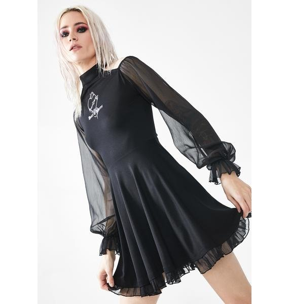 Punk Rave Heart Of Thorns Chiffon Sleeve Dress