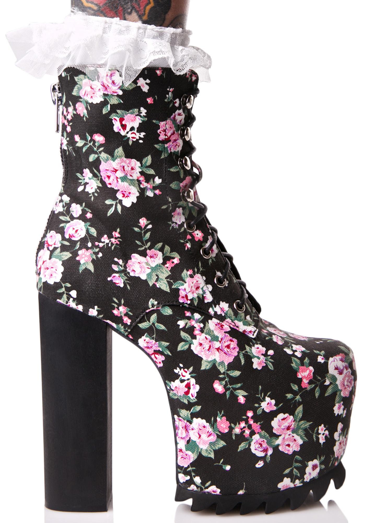 Flower Lita Platform Boots