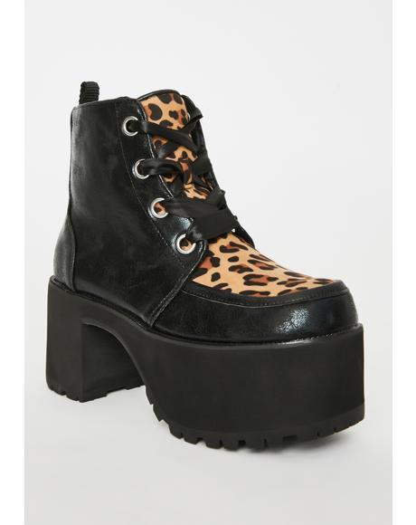 Leopard Nosebleed Platform Boots