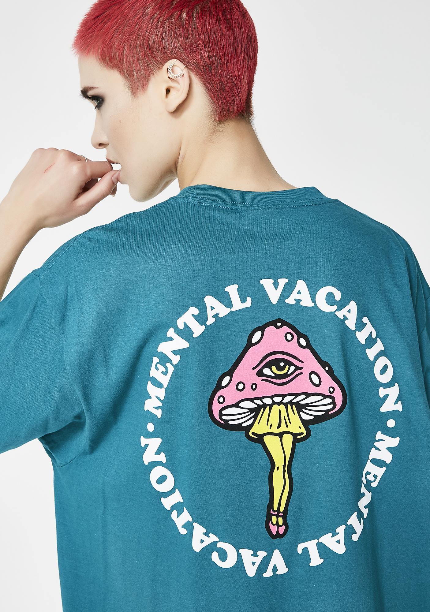 No Hours Mental Vacay Short Sleeve Tee
