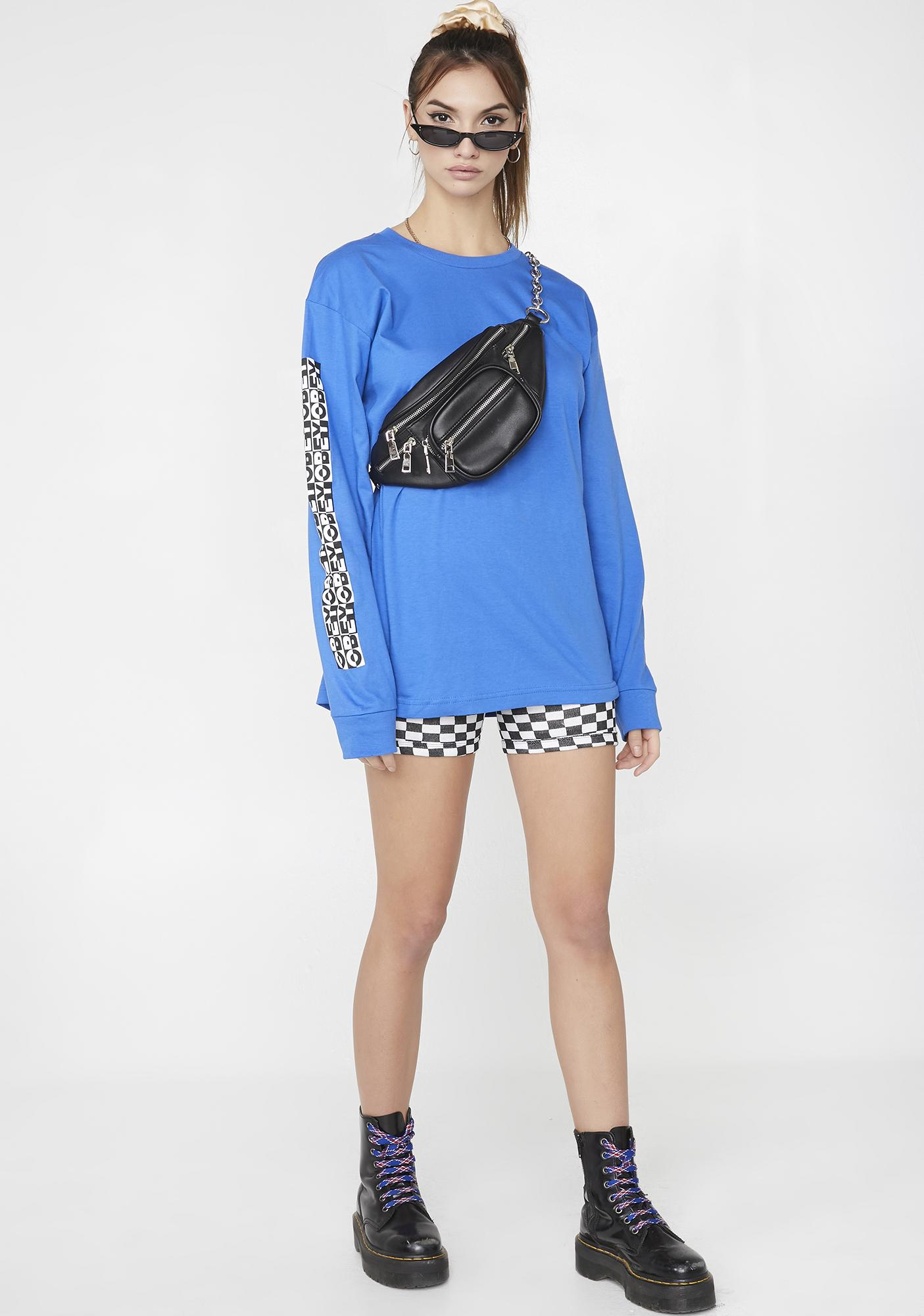 Obey Inside Out Checkerboard Graphic Tee