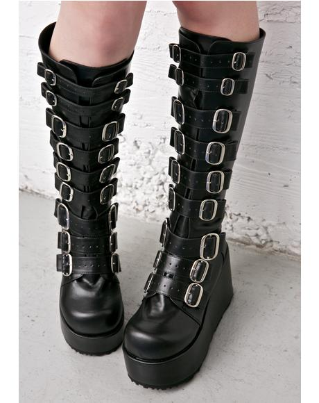 Concord Buckle Platform Boots