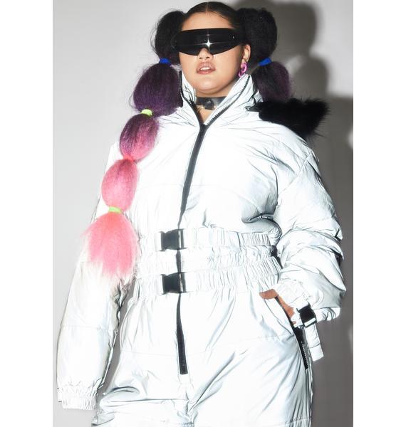 Club Exx High Gamma Ray Glimmer Reflective Snowsuit