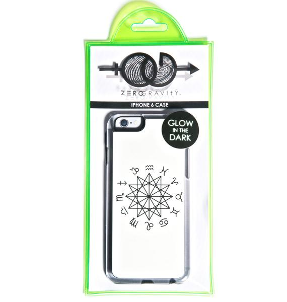 Zero Gravity Zodiac Glow in the Dark iPhone 6 Case
