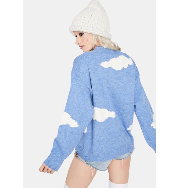Calm When It Rains Cloud Knit Sweater