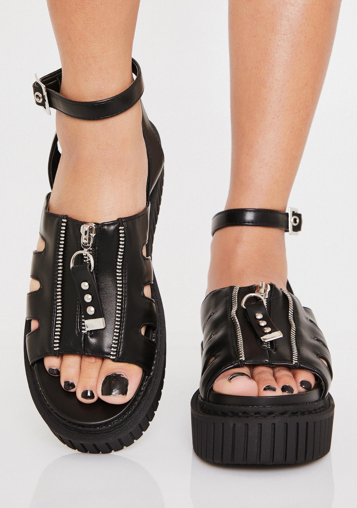 Lamoda Sweet Lies Creeper Sandals