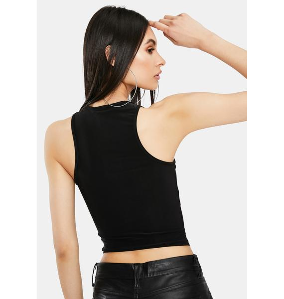 Crazy Nights Cut Out Crop Top