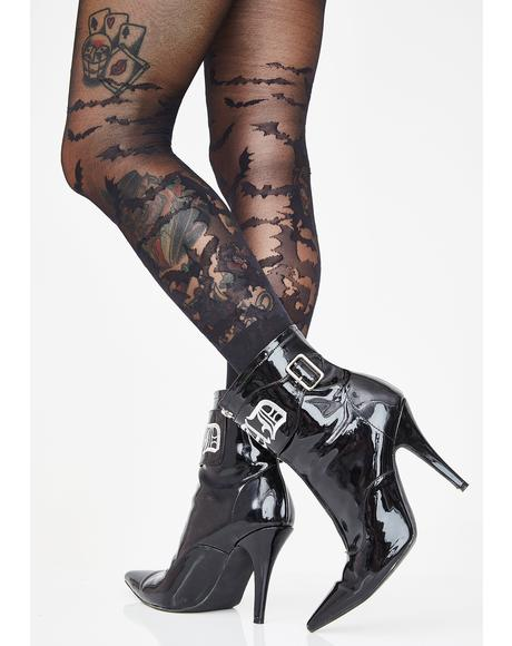 Creep It Real Sheer Bat Tights
