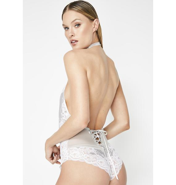 Vacay In Venetian Lace Teddy