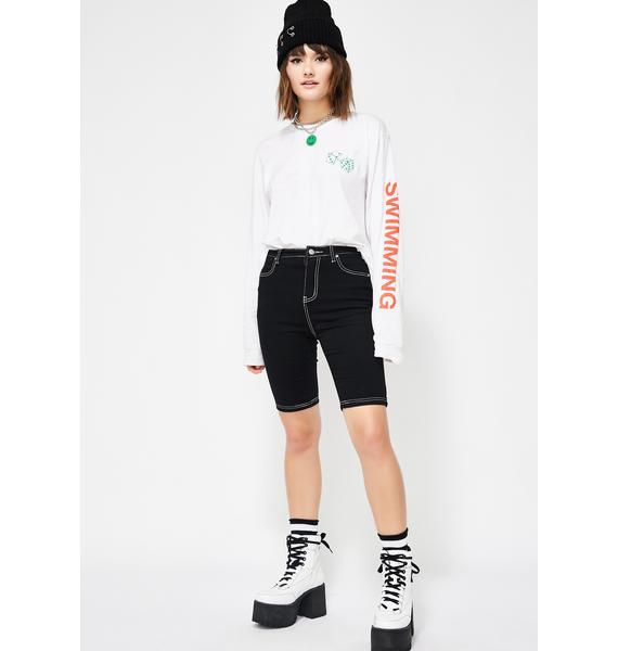Rebel Intent Denim Shorts