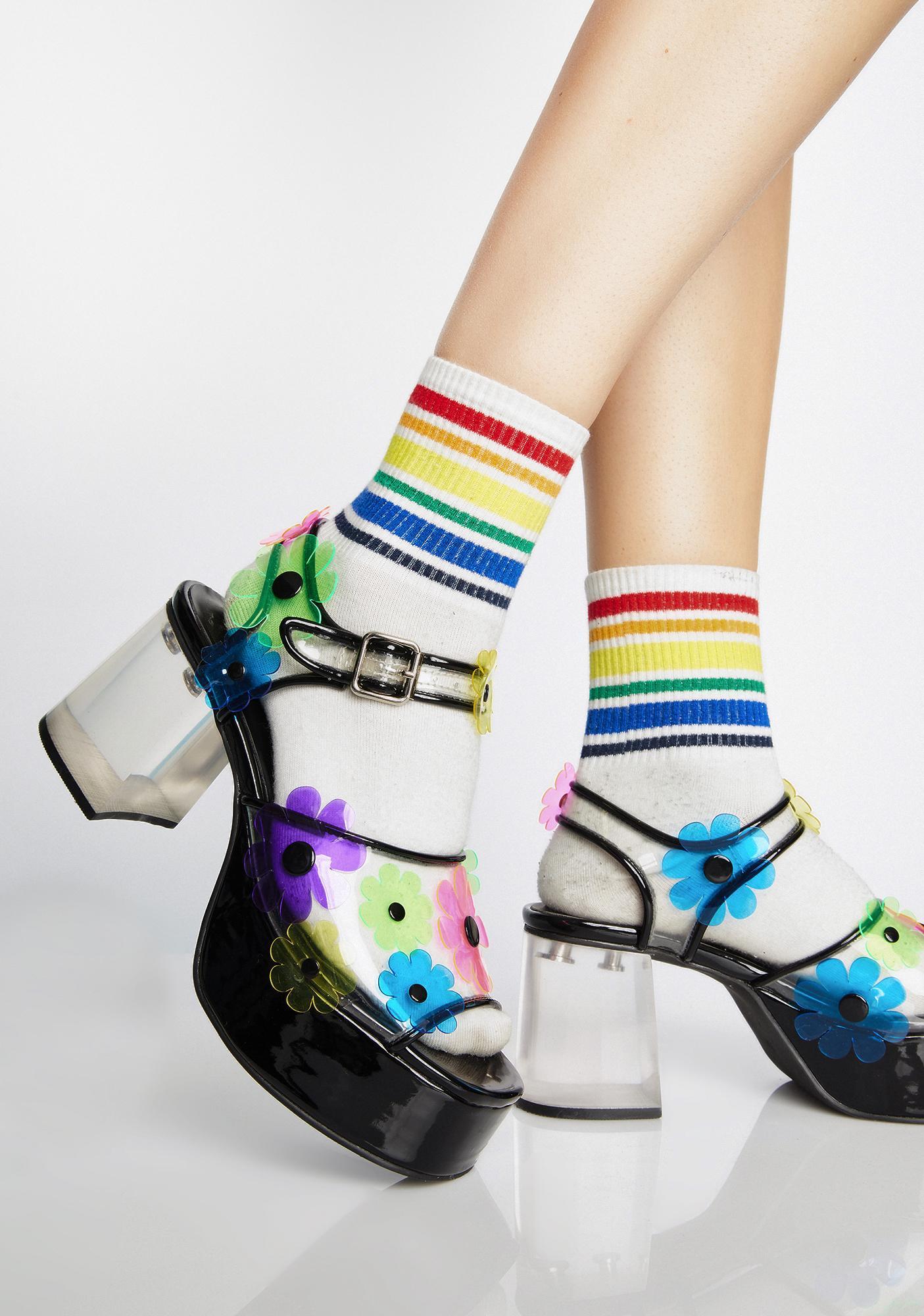 dELiA*s by Dolls Kill Petal Pixie PVC Heels