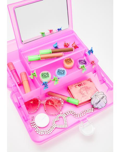 Pink Jelly Sparkle On-The-Go Girl Case