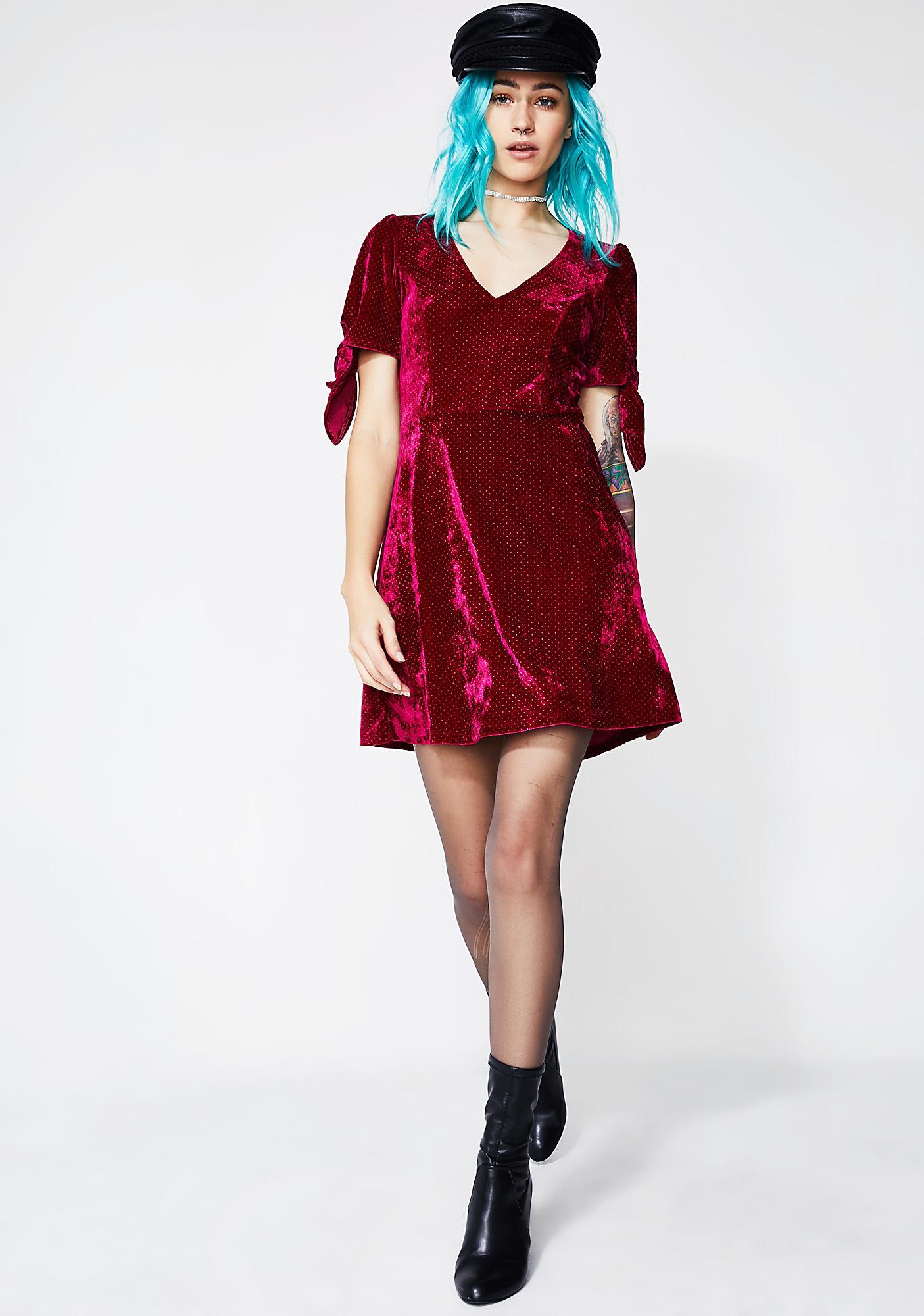All 4 Luv Velvet Dress