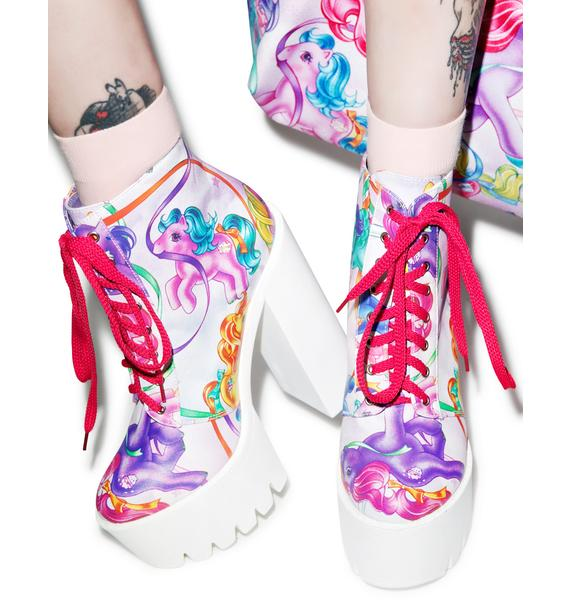 Iron Fist My Little Pony Merry Go Round Platform Boots
