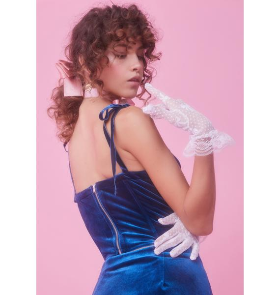 Sugar Thrillz Kiss Me Awake Velvet Bustier