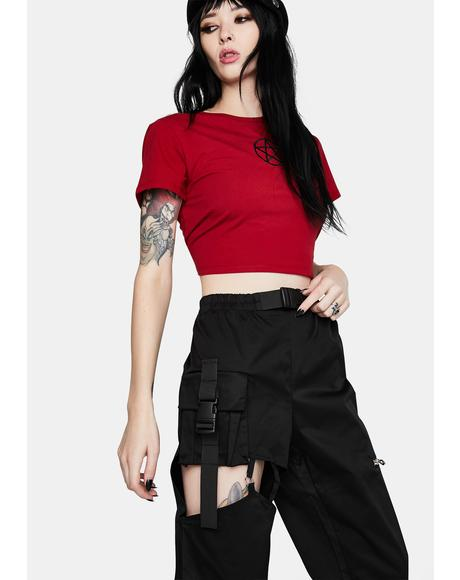 Punk Irregular Hollow Thigh Casual Trousers