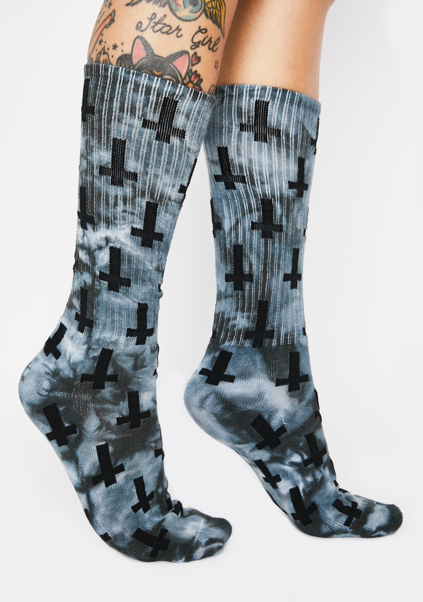 Flying Coffin Tie Dye Inversion Crew Socks