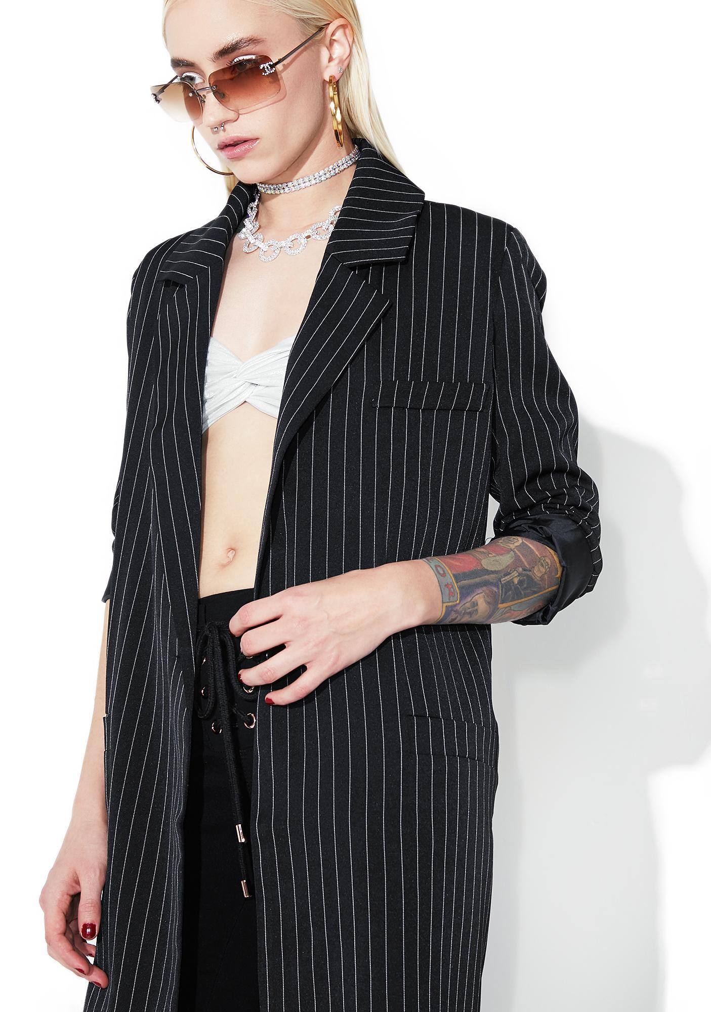 Issey Pinstripe Coat