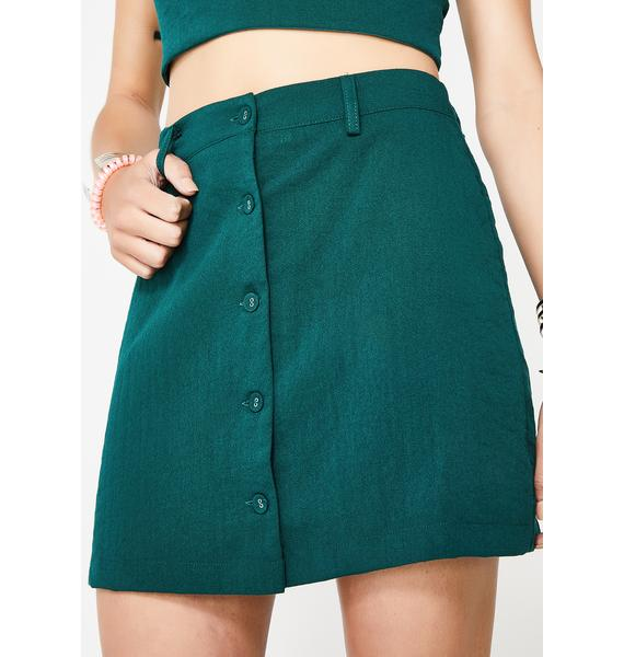 Kush Queen Button Up Skirt