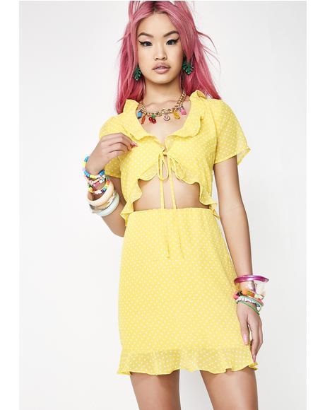 Hello Sunshine Cut-Out Dress