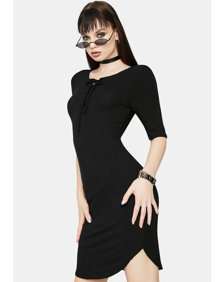 Buzz Killer Ribbed Mini Dress