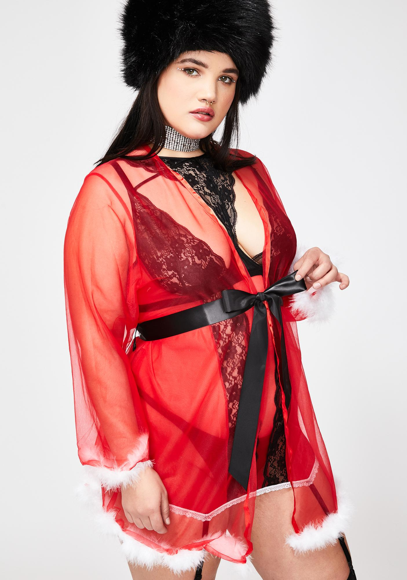 Pretty Gift Wrapped Sheer Robe