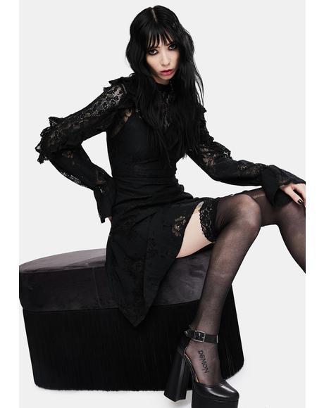 Dark Dreams Lace Skater Dress