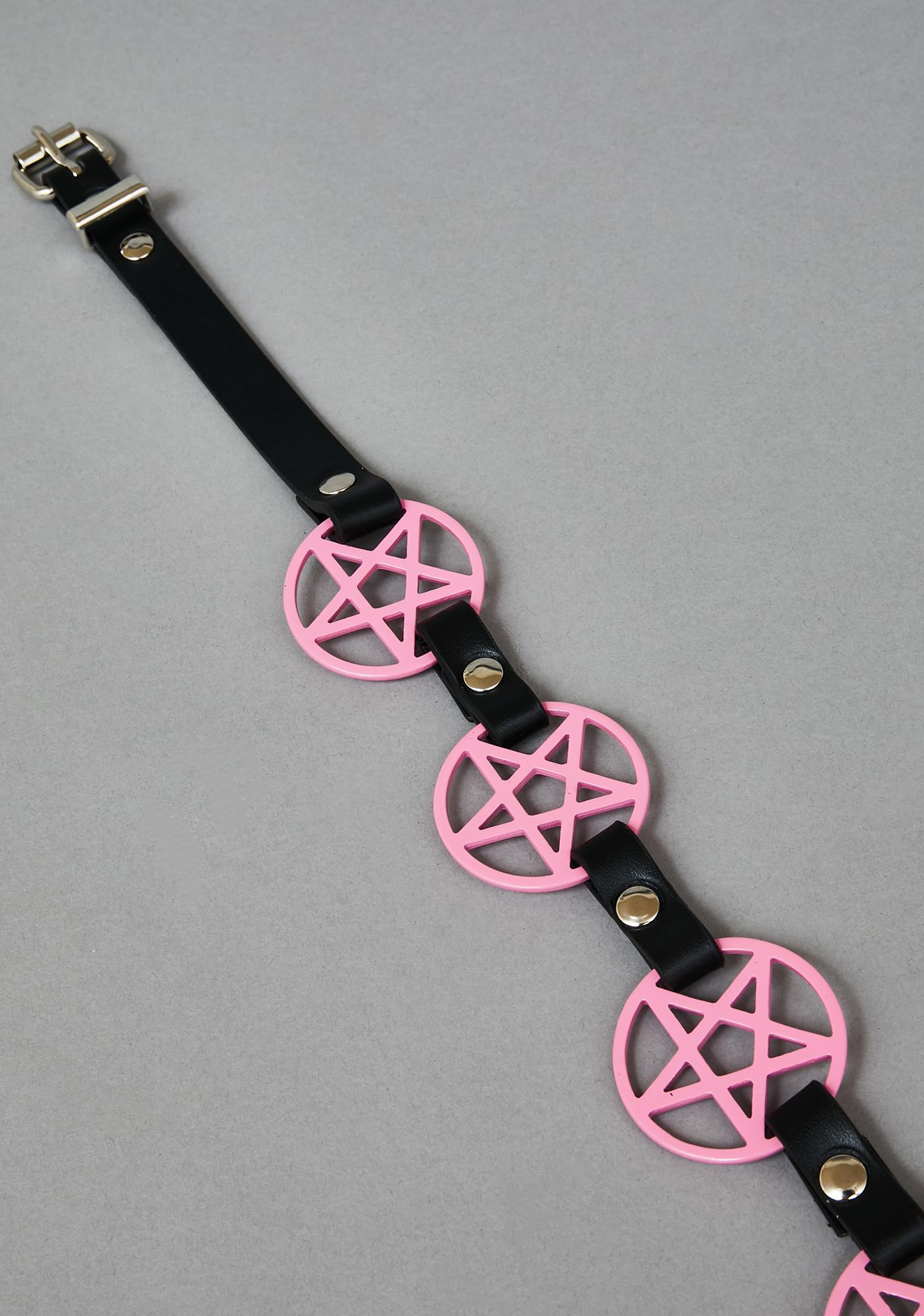 Funk Plus Pink Pentagram Waist Belt